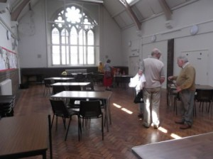 The Church Hall is suitable for larger groups.