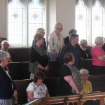 Local church members making affirmations