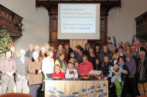 St. David's Uniting Congregation campaigning for women's rights