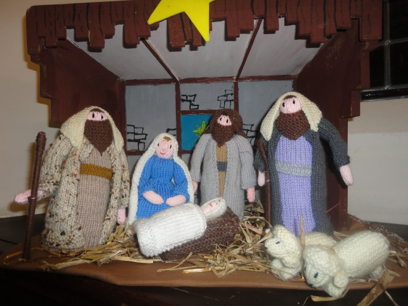 Shepherds with Mary, Joseph and the baby