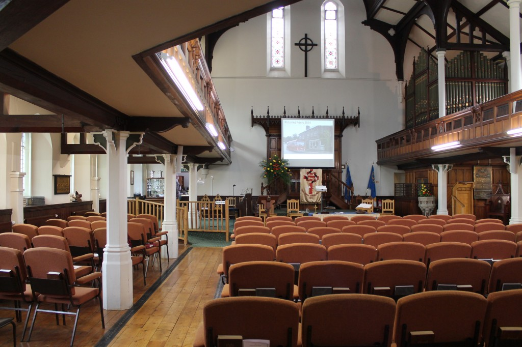 St. David's Uniting Church, view of the church before the ordination service