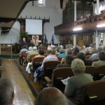 St. David's Uniting Church - the church was full to capacity for the service