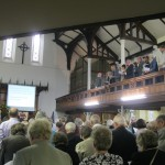 St. David's Uniting Church, The congregation stands to respond to the Statement concerning the Nature, Faith and Order of the United Reformed Church